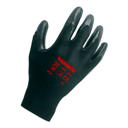 Warrior Black Nitrile Gloves - 12 Pairs